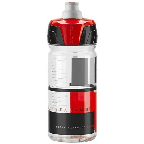Clear New Elite Crystal Ombra Cycling Water Bottle 550 ML Red