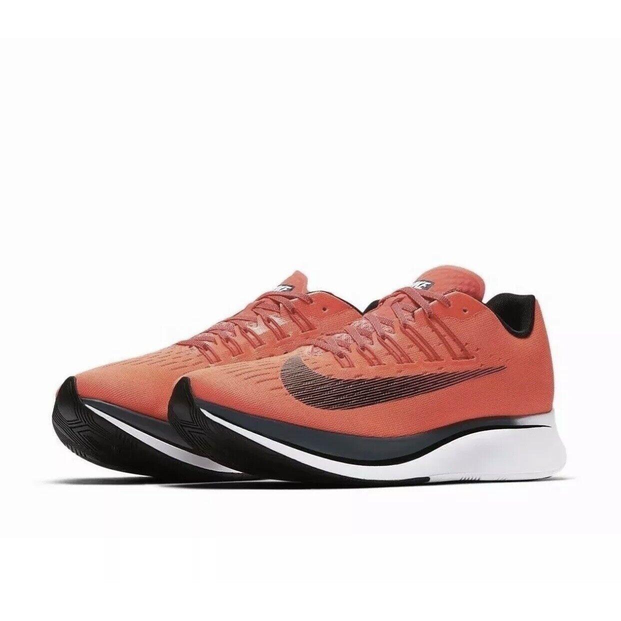 Nike Zoom Fly Men's Bright Crimson Black-blueee Fox shoes (880848 614) Sz 10