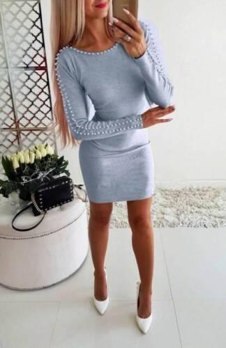 collo da maglione donna lunga manica donna per a casual slim con Top FYtqF