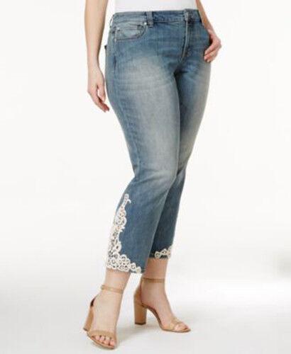 International Concepts Women's Jeans Lace Straight Leg Plus Size 24W MSRP 89.50
