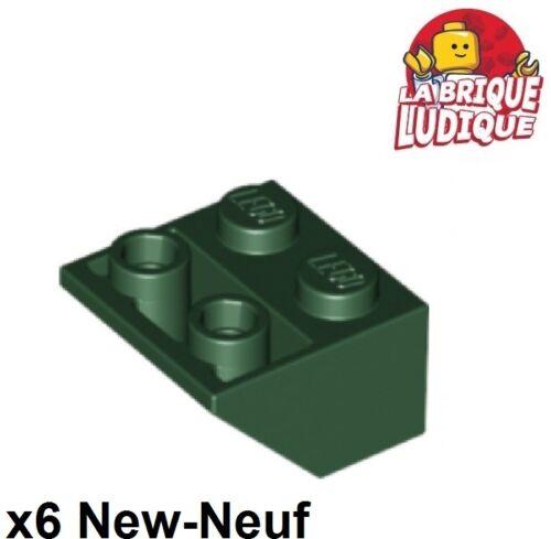 Lego 6x Slope Inverted Lego Brick Slope 45 2x2 Grün Dunkel- Dark Grün 3660 Neu