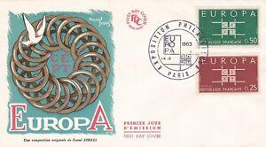 FRANCE-1963-FDC-EUROPAYT-1396-ET-1397