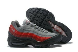 Nike-Air-Max-95-Brand-New-Mens-Shoes-Size-US-10-UK-9-EURO-44-Black-red-amp-grey