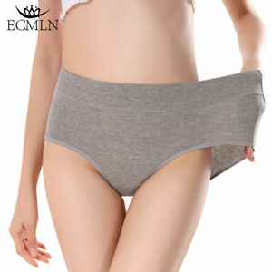 Women-Cotton-Briefs-Panties-Breathable-Stretchy-Mid-Waist-Lingerie-Underpants