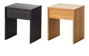 Ransby stool black brown oak veneer 40x33 cm ikea *brand new* ebay