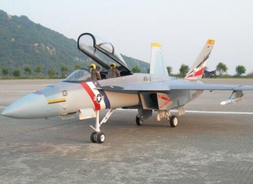 Échelle 1/12 F-18 Hornet Pusher Prop 55WS Scratch Build r/c Avion plans