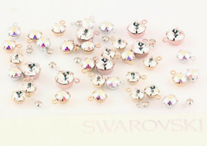 Genuine SWAROVSKI 1088 Chaton Crystals in Setting Ring On Top