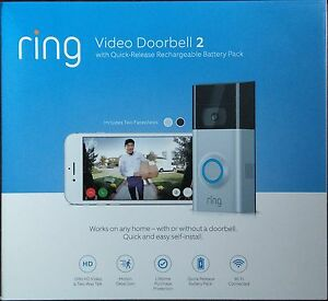 Details about ✅*BRAND NEW* Ring Video Wi-Fi Doorbell 2 / New Version w/ 2  Faceplates