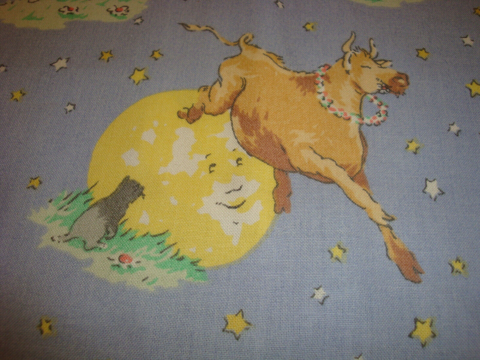 In The Beginning Hey Diddle Diddle by Julie Paschkis 6JPJ 1 Cotton Fabric