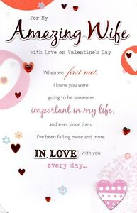 Amazing wife valentines day greeting card lovely verse special image is loading amazing wife valentine 039 s day greeting card m4hsunfo