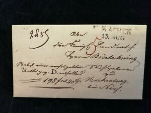 Vorphilatelie-Altdeutschland-1818-Brief-Faltbrief-Aachen-Nr-10