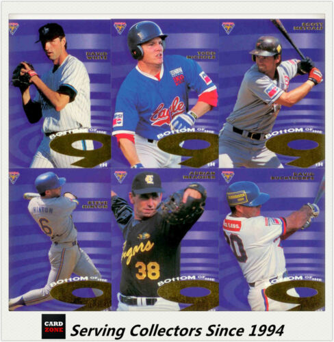 1996 Futera Australia Baseball Card ABL Bot Of Ninth Subset Full Set 9 Card