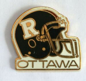 Defunct-1996-Ottawa-Roughriders-CFL-football-helmet-logo-pin-made-by-Ace