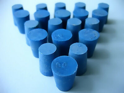 SIZE 00 BLUE RUBBER STOPPERS  (COUNT 20)