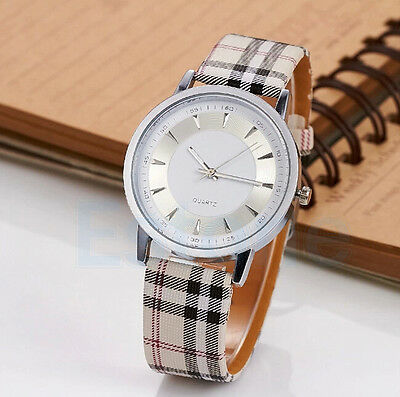 Fashion Casual Analog Unisex Women's Vintage Leather Band Quartz Wrist Watch