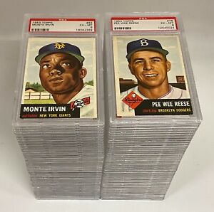 Lot of (79) 1953 Topps Baseball w HOF 'ers & Stars All PSA Graded Mostly 6 EX-MT