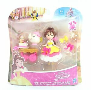 DISNEY-PRINCESS-doll-BELLE-039-s-Teacart-Treats-Little-Kingdom-playset-toy-NEW