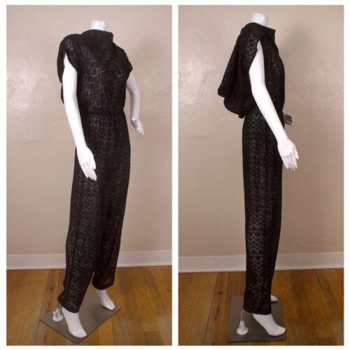 Vintage 1980s Ala Carte Black Sheer Sparkle Dressy