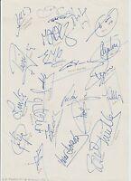 CD TENERIFE 1994-1995 SEASON ORIGINAL HAND SIGNED A4 SHEET 23 X SIGNATURES