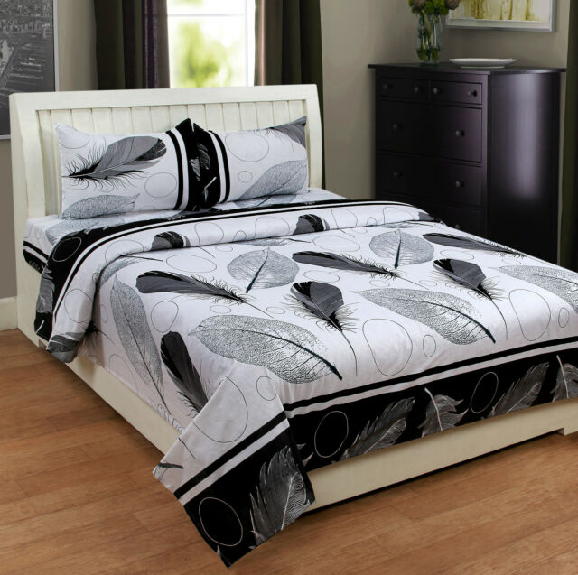 Homefabs 100% Cotton Double Bed Sheet with 2 Pillow Covers (DBS138)