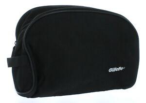 Black-Gillette-Men-039-s-Travel-Bag-Toiletry-Shave-Case-Bag-Dopp-Kit