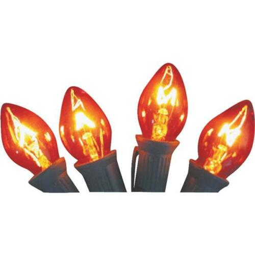 125 Pk C7 5W 120V Replacement Orange Christmas Tree Light Bulb 4Pk 141406