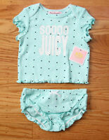 Juicy Couture Baby Girl Diaper Cover Set Turquoise With Hearts Soooo Juicy