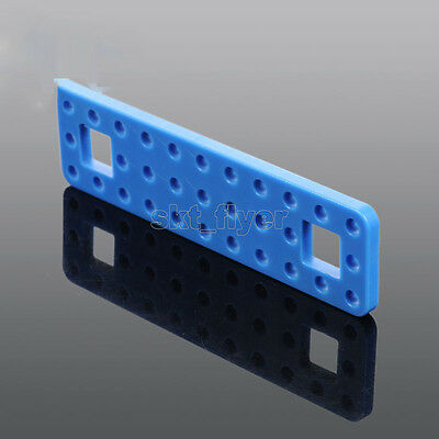2pcs 99*27mm Blue Plastic Connect Strip Fixed Frame For Robotic Car Model Toy