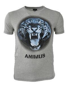 ebcdbb507ab6 Das Bild wird geladen ARMANI-JEANS-T-Shirt-Shirt-Aufdruck-Print-ANIMUS-