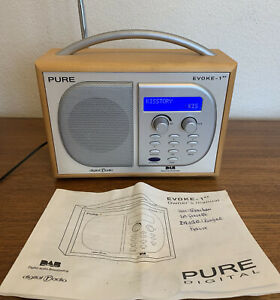 Pure DAB Radio evocano 1xt & istruzioni Digital Audio Broadcasting