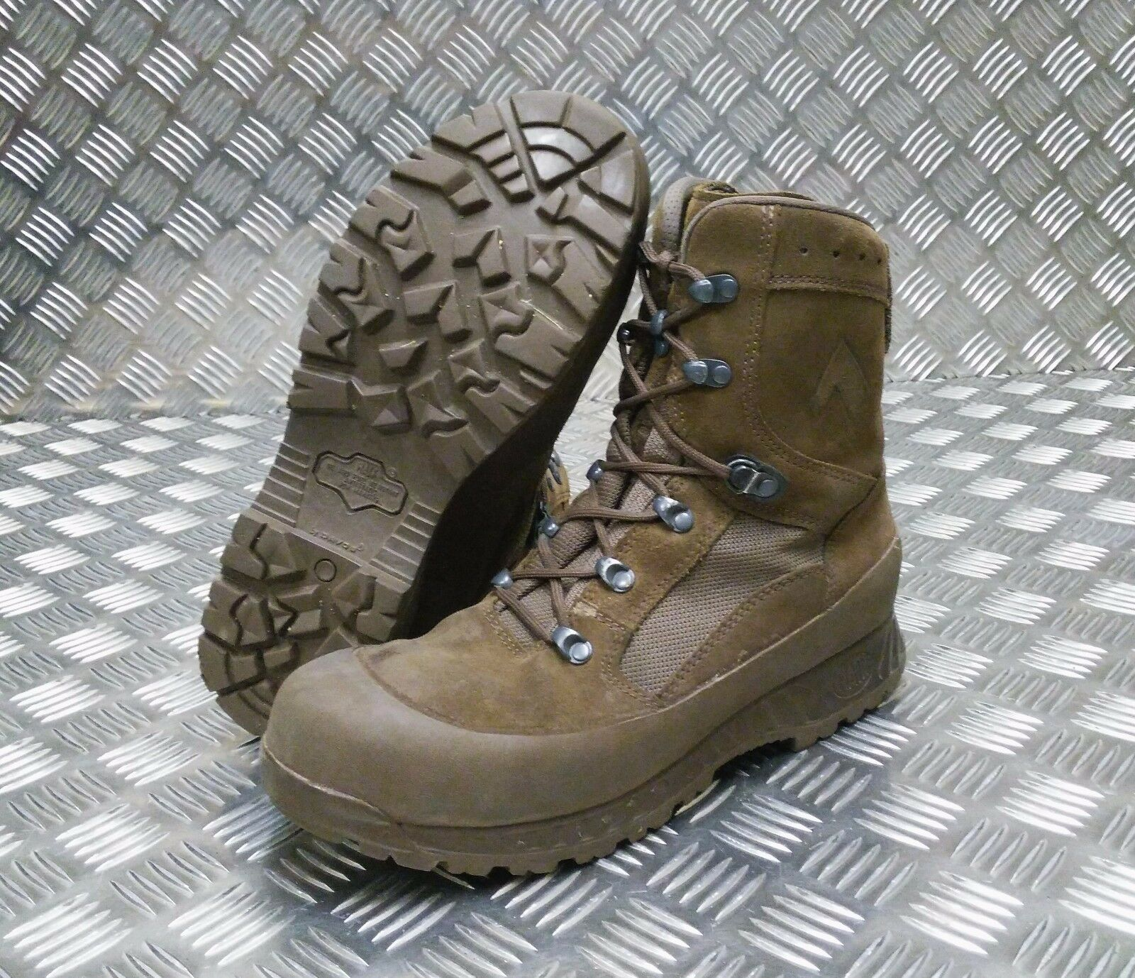 Genuine British Army Haix / Desert Suede Leather Assault / Haix Patrol Combat botas f50795