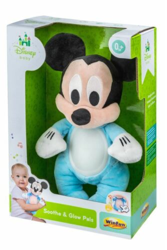 Winfun Disney Baby Mickey Mouse Soothe /& Glow Pals Light Up musical Plush