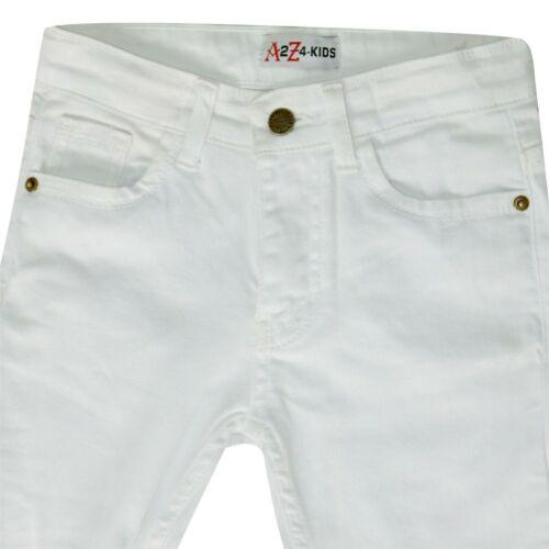 Kids Girls Skinny Jeans Designer/'s White Denim Stretchy Pant Fit Trouser 5-13 Yr