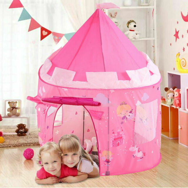 Childrens Kids Pop up Castle Playhouse Girls Princess Boys Wizard Play Tent