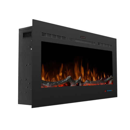 """42/""""INCH LED 12 DIGITAL FLAMES WALL MOUNTED ELECTRIC FIRE HEATING STOVE W// REMOTE"""