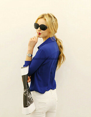 Women's Lady Loose Long Sleeve Chiffon Casual Blouse Shirt Tops Fashion Blouse