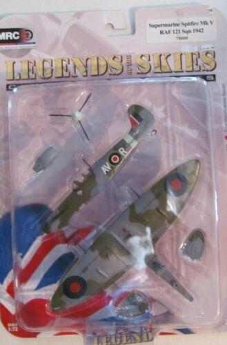1942  NIB  #T5000 MRC Click-together kit 1:72  Spitfire Mk V  RAF 121 Sqn