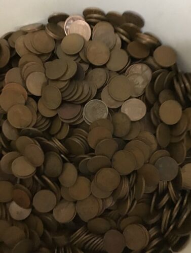 1000 Wheat Cents Penny Pennies lot P D S PDS equals 20 rolls