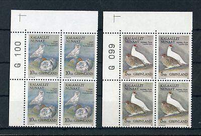 Grönland Praktisch GrÖnland Nr.176-177 ** Eckrand-vb Bogennummer VÖgel !!! 127496
