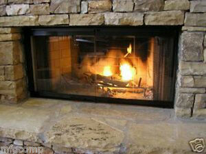 fireplace doors for heatilator fireplaces 36 set ebay rh ebay com Heatilator Fireplace Parts Heatilator Fireplace Inserts