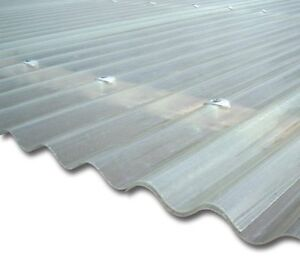 vetroresina ondulata ondulina neutro trasparente tettoie