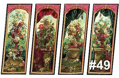 Dolls House Victorian Wall Panels choose from 1/12th or 1/24th scale #49
