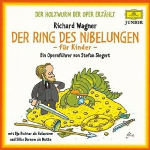 ILJA RICHTER/SILKE DORNOW - WAGNER-DER RING DES NIBELUNGEN-FÜR KINDER  4 CD NEW!