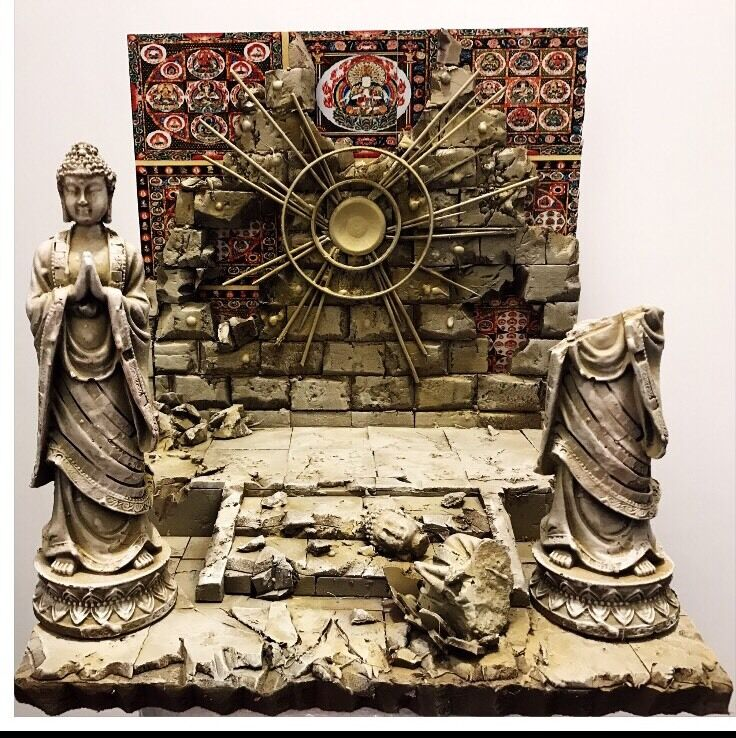 Diorama Decoration Scene Myth Cloth Saint Seiya Casa Di Virgo Shaka + Statue