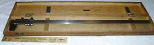 Cse 26 Vernier Caliper German Made Wooden Case 11000 Machinist Precision