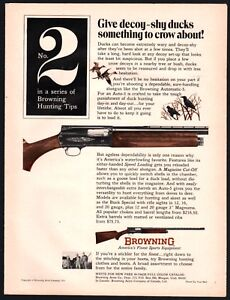 Details about 1971 BROWNING Superposed SHOTGUN AD Hunting Tips No  2