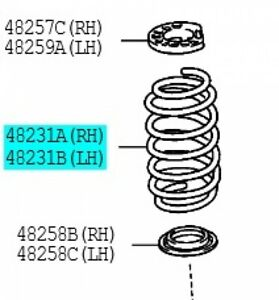 TOYOTA-48231-52A10-Coil-Spring-RR-RH-LH-Left-Right-VITZ-Genuine-2005-2010