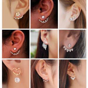 68b542ac0 Elegant Women Hook Earrings Crystal Ear Stud Dangle Hoops Statement ...