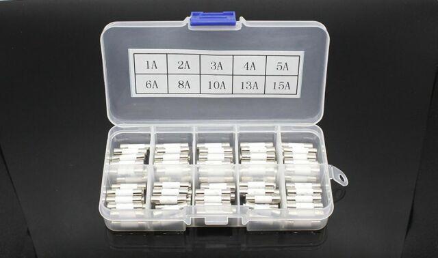 100pcs Ceramic Fuse 5mm X 20mm Slow Blow T 1a 2a 3a 4a 5a 6a 8a 10a 13a 15a 250v