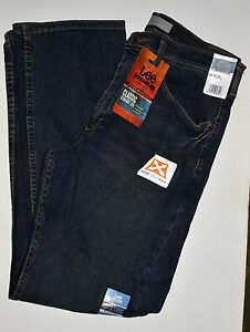 Lee-Premium-Men-039-s-Classic-Straight-Leg-Jeans-Blue-Denim-Pants-34-x-32-NWT